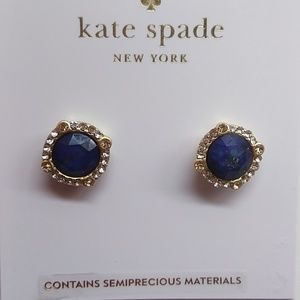 Kate Spade New Round Royal Blue Earrings